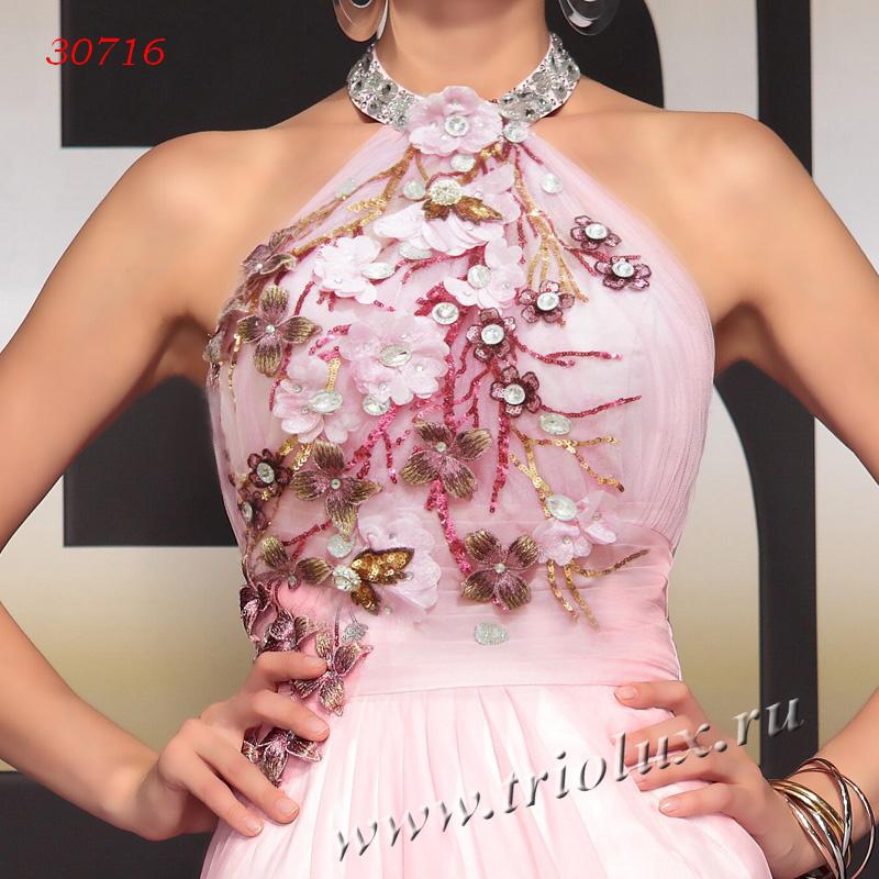 Цветок на платье из шифона